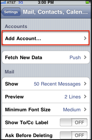iphone exchange setup manually configure ios devices for email hosted on 11827