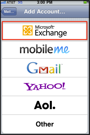setup exchange on iphone manually configure ios devices for email hosted on 16110