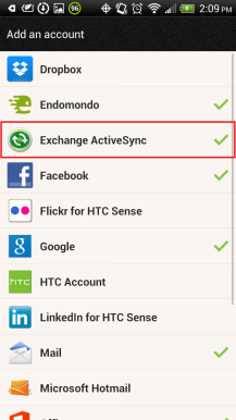 Manually configure Android devices for email hosted on