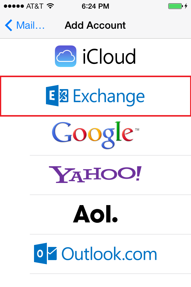 setup exchange account on iphone manually configure ios devices for email hosted on 18005
