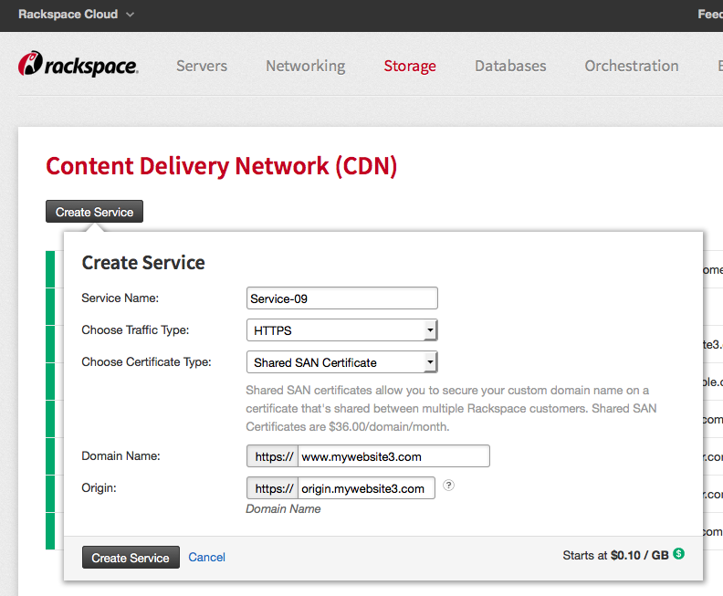 Rackspace Cdn Secure Delivery Options