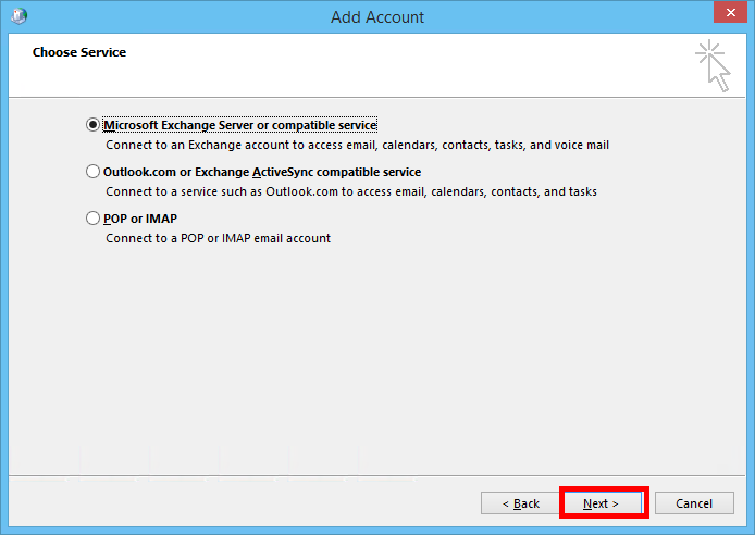 microsoft exchange account
