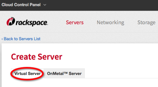 Click the Virtual Server tab to begin creating a virtual server.