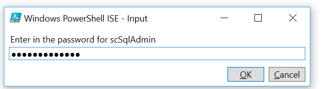 Azure SQL Server Admin Password